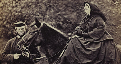 Queen Victoria on Fyvie with John Brown at Balmoral